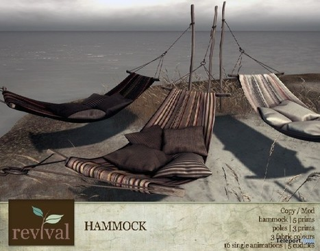 Hammock 24 Hour Group Gift by revival | Teleport Hub - Second Life Freebies | Second Life Freebies | Scoop.it