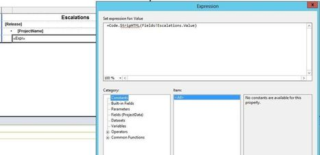 Stripping HTML tags from SSRS text fields | Reporting Services | Scoop.it