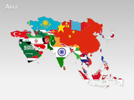 Asia Countries Flag Map - PowerPoint Slides | Lezzie | Scoop.it