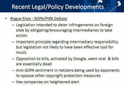 Leaked RIAA Report: SOPA/PIPA 'Ineffective Tool' Against Music Piracy | Technoculture | Scoop.it