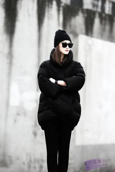 Discount New Trend winter women's down jackets winter coat black-white contrast color in women down parkas on sightface.com | Latest for share | Scoop.it