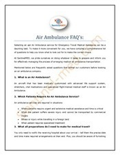 Air Ambulance FAQs | Medical Transportation Services | Scoop.it