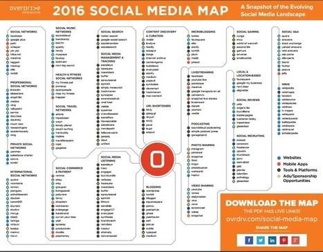 Social Media Map 2016 | Seo, Social Media Marketing | Scoop.it