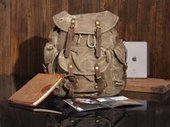 fantastic canvas hunter backpack by notlie | personalized canvas messenger bags and backpack | Scoop.it