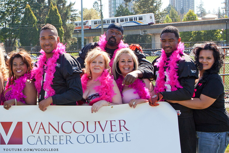 Vancouver Career College Ladies at the Bras for a Cause Event with the BC Lions Football Team | Events at Vancouver Career College | Scoop.it