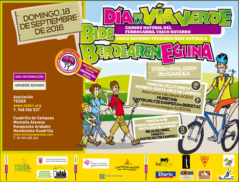 Día de la Vía Verde del Ferrocarril Vasco Navarro 2016 Vasco Navarro Trenaren Bide Berdearen Eguna | Mendialdea.info | Scoop.it