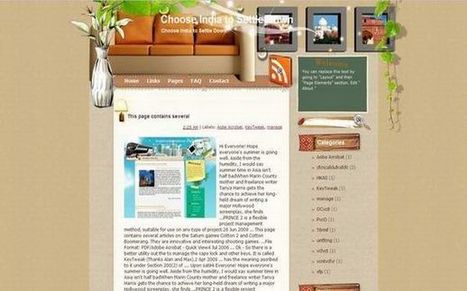 Free Floral Interior Design Blogger Theme Template Download | Blogger themes | Scoop.it