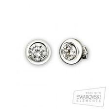 Pendientes redondos de plata y cristal Swarovski   VanCrystals   Joyas y accesorios   Scoop.it