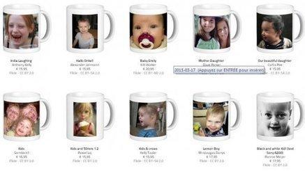 Réseaux sociaux: Un site vend des mugs à l'effigie de votre bambin… sans que vous le sachiez! | La Boîte à Idées d'A3CV | Scoop.it