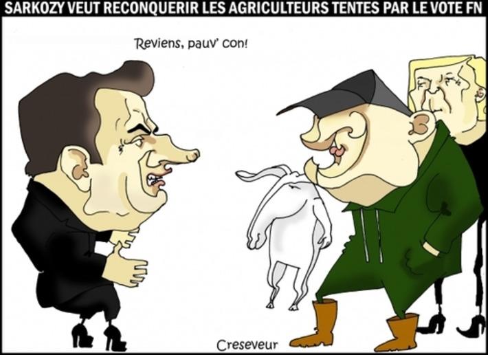 Sarkozy veut dissuader les agriculteurs de voter FN | Baie d'humour | Scoop.it
