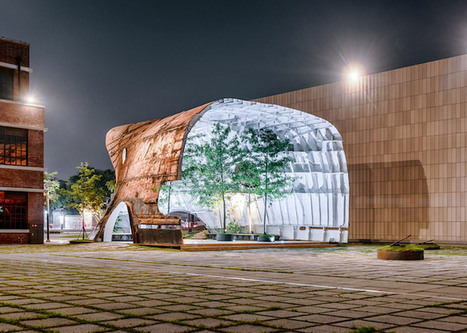 Rusted Hull of Old Ship Is Turned Upside Down and Transformed into an Airy Arts Pavilion | Le It e Amo ✪ | Scoop.it