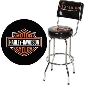 Harley-Davidson Bar Stool with Backrest by Harley RoadHouse at the The Bar Room | Bar Stools | Scoop.it