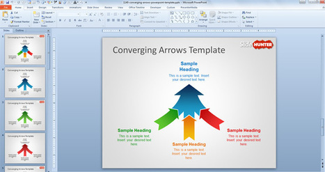 Free Converging Arrows PowerPoint Template - Free PowerPoint Templates - SlideHunter.com | digital marketing | Scoop.it