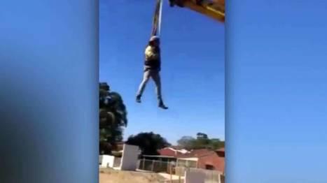 WA tradies turn excavator into ride - 9news.com.au | Earthmoving & Compaction | Scoop.it