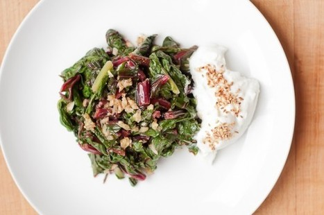 Swiss Chard with Garlic and Yogurt – Recipe | Vegetarianism | Scoop.it