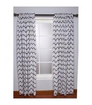 Bacati Ikat Zigzag Grey Curtain Panel   Online Store   Scoop.it