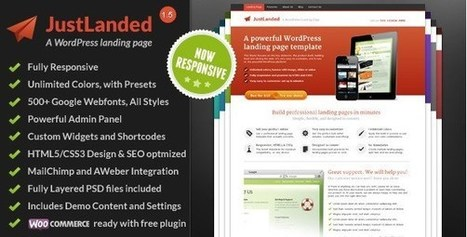 10 Most Inspirational Landing Page Templates | Templates | Scoop.it