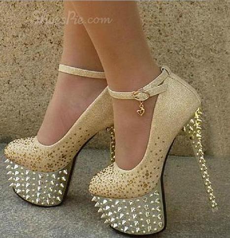 Sparkle Platform Stiletto Heels Bridal Shoes | shoespie | Scoop.it