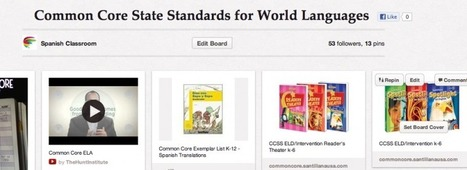 Common Core State Standards for World Languages on Pinterest!   Google Apps in the Foreign Language Classroom   Scoop.it