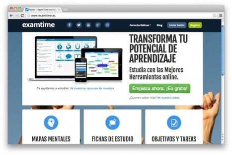 ExamTime, plataforma gratuita de estudio online en español con herramientas para creación de recursos de aprendizaje | + TIC y + educación para todos | Scoop.it