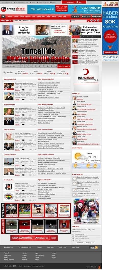 Haber Sitesi Paketi | Konya Web Tasarım | Scoop.it