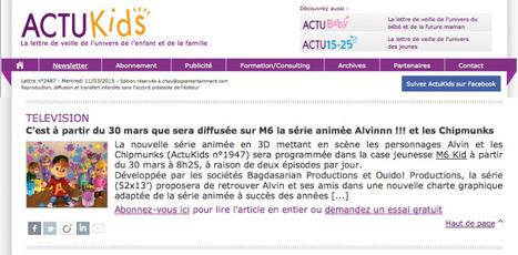 ActuKids - Alvin arrives on M6 | ALVINNN!!! and The Chipmunks | Scoop.it