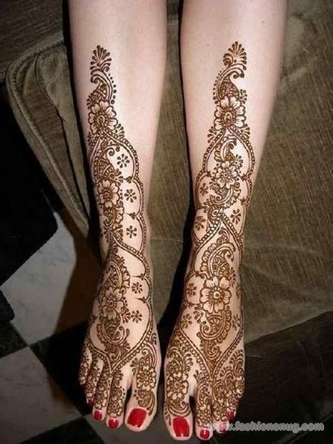 Latest Bridal Mehndi Designs 2014 For Feet | EA Bridal Design | Scoop.it