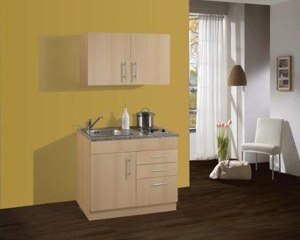 –> Günstige    Held Möbel 973.6510 Single-Küche 100 mit 2-er E-Mulde, buche | Spülenschrank Günstig | Scoop.it