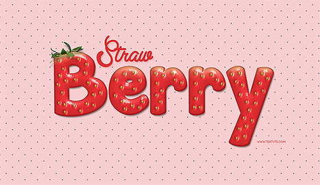 Strawberry-Inspired Text Effect in Photoshop | The Official Photoshop Roadmap Journal | Scoop.it