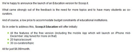 Scoop.it launches Scoop.it Pro and Scoop.it Education Scoop.it | 21st Century Tools for Teaching-People and Learners | Scoop.it