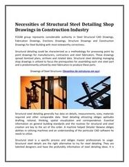 Necessities of Structural Steel Detailing Shop Drawings in Construction Industry   FCGAB - Steel Detailing   Scoop.it