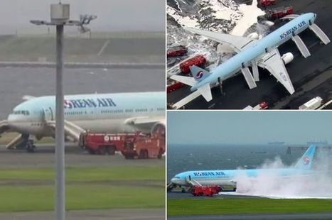 Korean Air plane catches on fire before take off in Japan | Aviation & Airliners | Scoop.it