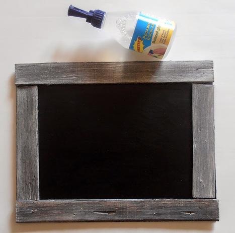 DIY: Pizarra con rollos de cartón | Con tus propias manos - Lola | Scoop.it