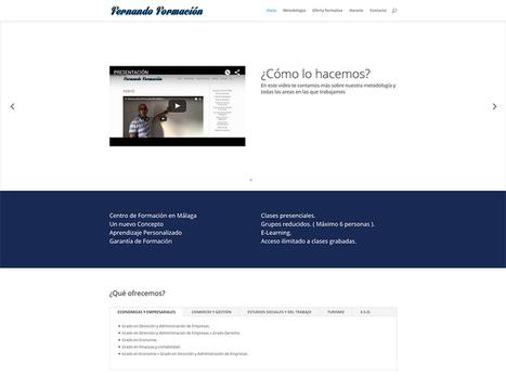 Diseño web para academia de formación en Málaga | Diseño Web Málaga | Scoop.it