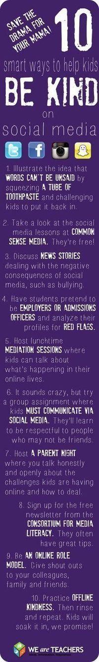 10 maneras de ayudar a los niños a comportarse de manera adecuada en redes sociales [EN] | Educacion, ecologia y TIC | Scoop.it