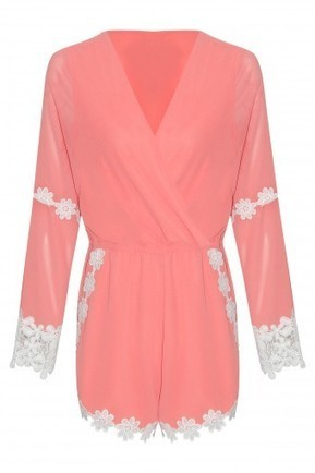 Floral Crochet Trim Wrap Over Playsuit | Stylewise Direct | Women's Fashion Online | Scoop.it