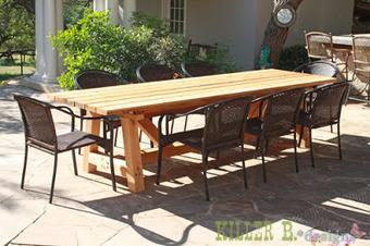 Initiales GG, une fille mais pas que...: DIY : une table de jardin en bois | DIY DIY | Scoop.it