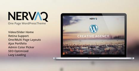 Nervaq – Responsive One Page WordPress Theme (Portfolio) | Best HTML Themes | Scoop.it