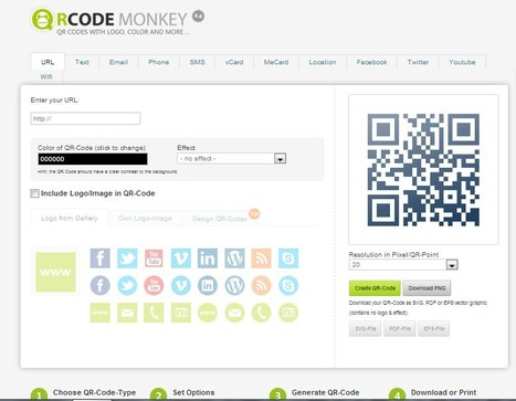 Create QR-Codes with Logo or Image fast, free & easy | QRCode-Monkey-Generator | Herramientas 2.0 | Scoop.it