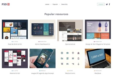 PSD Repo : 800 fichiers Photoshop gratuits et de qualité (boutons, icônes, maquettes, UI Kits...) - Blog du Modérateur | Boite à outils E-marketing | Scoop.it