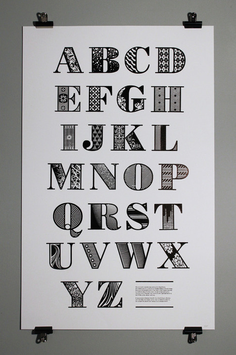 Bodoni - Digital becomes Analog - Laser-cut letterpress printed poster | architecture, technology & business | Scoop.it