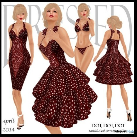 Dot, Dot, Dot Dress April 2014 Group Gift by Dressed by Lexi | Teleport Hub - Second Life Freebies | Second Life Freebies | Scoop.it