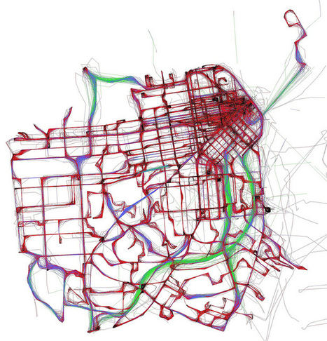A day of Muni, according to NextBus | Map@Print | Scoop.it