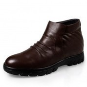 UK Winter cotton-padded elevator boots for men get tall 6.5cm / 2.56inches business height shoes - topoutshoes.com | dress elevator shoes for men get taller | Scoop.it