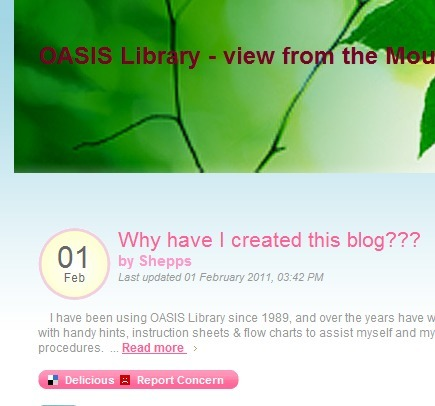 OASIS Library - view from the mountains | Teacher Librarian: Blogs and Web 2.0 | Scoop.it