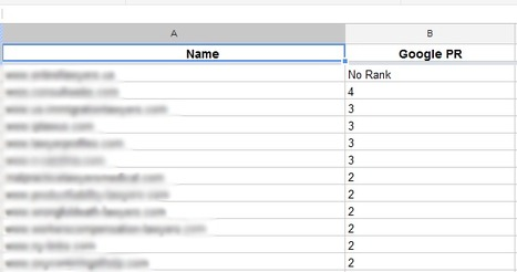 How To Pull PR(PageRank) data into Google Docs | Web Analytics and Web Copy | Scoop.it