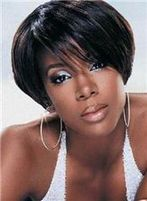 Cheap 12 Inch Capless Straight Black Short Synthetic Hair Wigs : fairywigs.com | African American Wigs | Scoop.it