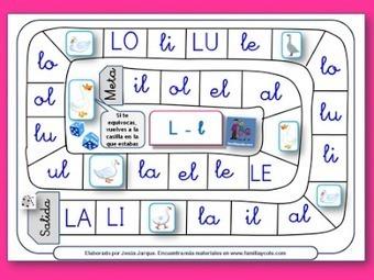 AYUDA PARA MAESTROS: Juegos de la oca para aprender a leer | Recull diari | Scoop.it