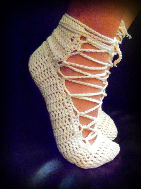 Beautiful Crochet Shoes | Artistic crocheting-knitting and more | Scoop.it