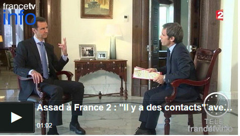 David Pujadas: «Bachar Al-Assad n'a pas essayé de connaître les questions de mon interview» | DocPresseESJ | Scoop.it